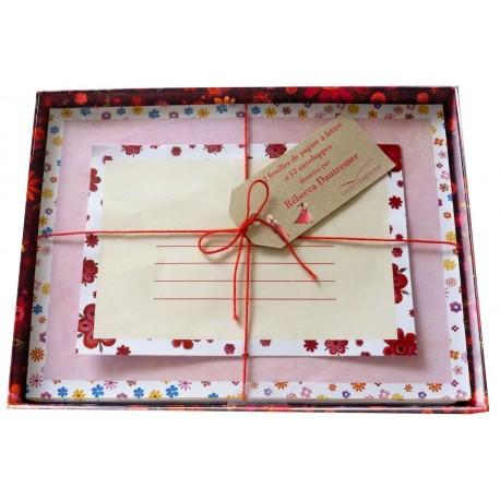 Coffret de correspondance 12 enveloppes et 12 feuilles de papier à lettres