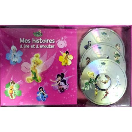 Mes histoires à lire et à écouter - Avec 3 histoires de Clochette - 3 CD audio