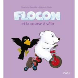 Flocon et la course à vélo