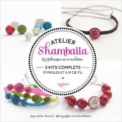 Atelier shamballa - La technique en 6 modèles - 3 kits complets - 19 perles et 6m de fil