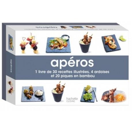 Apéros - 1 livre de 30 recettes illustrées, 4 ardoises et 20 piques en bambou