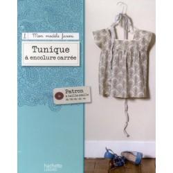 Tunique à encolure carrée - Patron à taille réelle 36-44