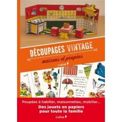 Découpages vintage - Maisons et poupées