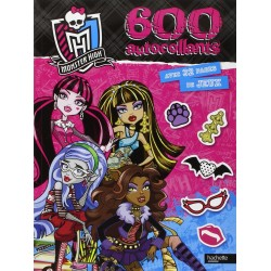 Monster High - 600 autocollants avec 32 pages de jeux