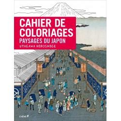 Cahier de coloriages - Paysages du Japon - Utagawa Hiroshige