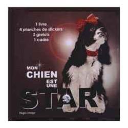 Coffret Mon chien est une star - 1 livre, 4 planches de stickers, 3 grelots, 1 cadre