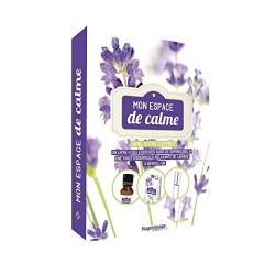 Coffret Mon espace de calme - 1 livre, des exercices audio de sophrologie, 1 huile essentielle relaxante de lavande, 1 roll-on