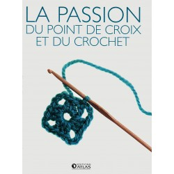 La passion du point de croix et du crochet -Coffret 2 volumes - Le crochet - Point de croix