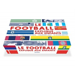 Coffret Le football expliqué aux enfants - 2 livres, 1 planisphère géant, 32 stickers maillots