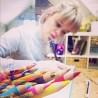 Coffret Les ateliers du calme - Flocons d'hiver - Cartes à colorier et à dorer avec des paillettes et des feuilles métallisées !