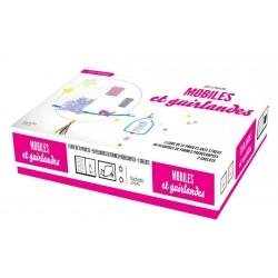 Coffret - Mobiles et guirlandes - 1 livre, 50 planches de formes prédécoupées, 2 grelots