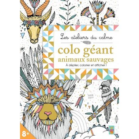 Coloriage Geant Animaux.Les Ateliers Du Calme Colo Geant Animaux Sauvages A Deplier Colorier Et Afficher