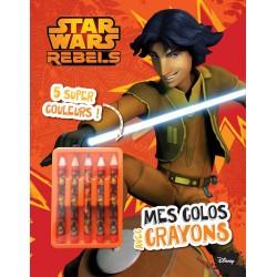 Star Wars Rebels - Mes colos avec crayons - 5 super couleurs !