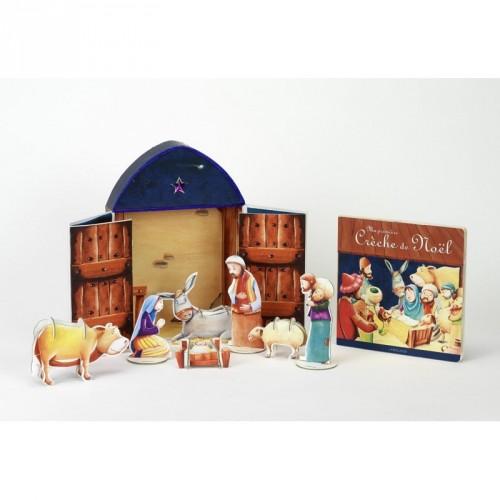 Ma première crèche de Noël - Un album et huit figurines