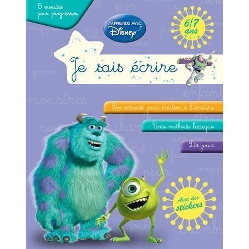 Je sais écrire - J'apprends avec Disney - 6/7 ans (bleu)