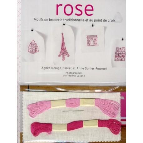 Rose - Motifs de broderie traditionnelle et au point de croix