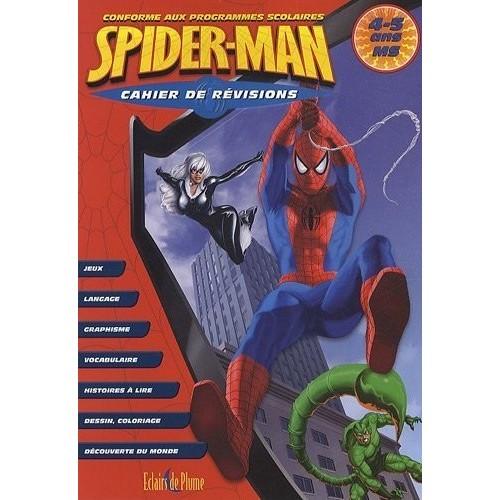 Cahier de révisions Spiderman - 4/5 ans MS