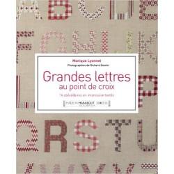 Grandes lettres au point de croix - 14 abébédaires en impression textile