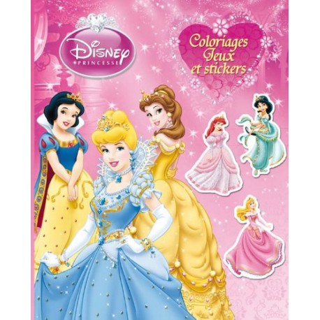 Disney Princesses - Coloriages, jeux et stickers