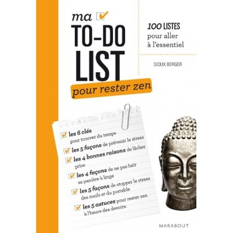 Ma to-do list pour rester zen