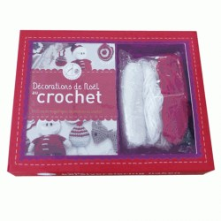 Coffret Décorations de Noël au crochet - Réalisez des magnifiques décorations au crochet