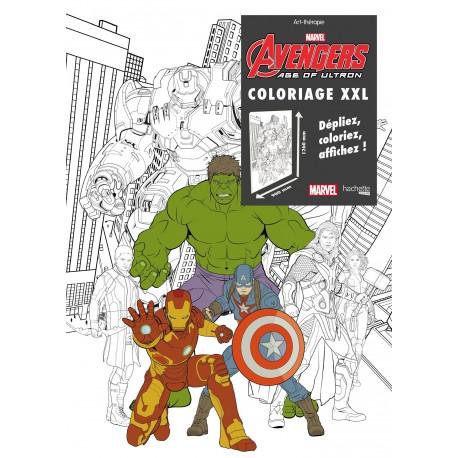 Art thérapie - Coloriage XXL - Avengers - Age of Ultron - Dépliez, coloriez et affichez !
