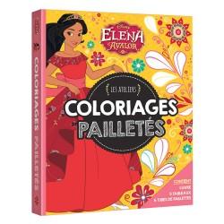 Elena d'Avalor - Les ateliers - Coloriages pailletés - 1 livres, 5 tableaux, 6 tubes de paillettes