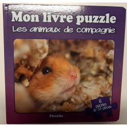 Mon livre puzzle - Les animaux de compagnie - 6 puzzles de 24 pièces
