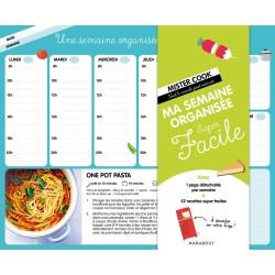 Ma semaine organisée Super Facile - Avec une page détachable par semaine + 52 recettes super faciles