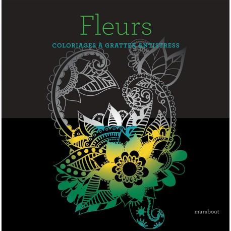 Fleurs - Coloriages à gratter antistress