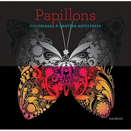 Papillons - Coloriages à gratter antistress