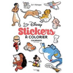 Art thérapie - Disney stickers à colorier - Coloriages anti-stress