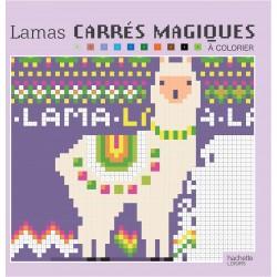 Carrés magiques - Lamas - 40 modèles de coloriages mystères, façon pixels