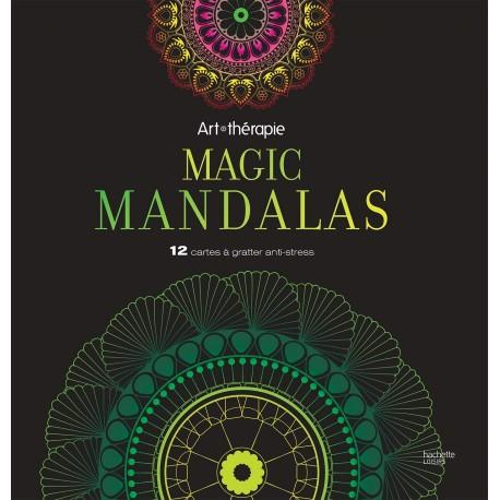 Art-Thérapie - Magic mandalas - 12 cartes à gratter anti-stress