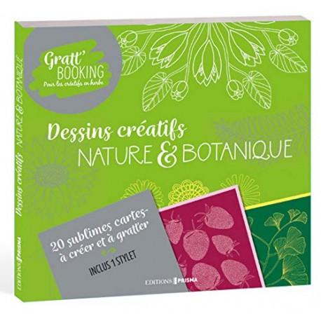 Gratt'Booking - Dessins créatifs nature & botanique - 20 sublimes cartes à créer et à gratter