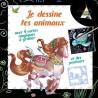 Je dessine les animaux - Cheval - Avec 4 cartes magiques à gratter et des pochoirs