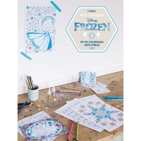 L'Atelier Art-thérapie - Disney Frozen - Kit de coloriages anti-stress