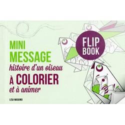 Mini message histoire d'un oiseau à colorier et à animer