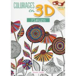 Coloriages en 3D - Fleurs - Lunettes 3D incluses