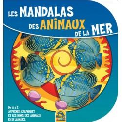 Les mandalas des animaux de la mer - De A à Z apprends l'alphabet et les noms des animaux en 5 langues