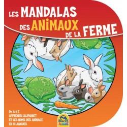 Les mandalas des animaux de la ferme - De A à Z apprends l'alphabet et les noms des animaux en 5 langues