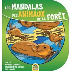 Les mandalas de la forêt - De A à Z apprends l'alphabet et les noms des animaux en 5 langues