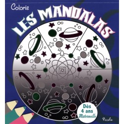 Colorie Les mandalas (bleu marine)