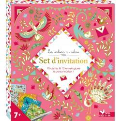 Les ateliers du calme - Set d'invitation - 10 cartes & 10 enveloppes à personnaliser !