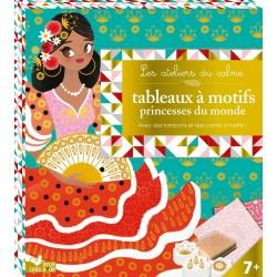 Les ateliers du calme - Tableaux à motifs princesses du monde - Avec des tampons et des cartes à motifs !