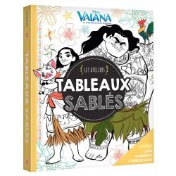 Vaiana, la légende du bout du monde - Les ateliers - Coloriages pailletés - 1 livres, 5 tableaux, 6 tubes de paillettes
