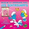 Dessine et apprends avec Les Schtroumpfs (rose) - Avec plus de 30 pochoirs !