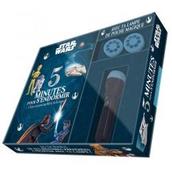Coffret Star Wars - 5 Minutes pour s'endormir - 5 Histoires avec tes Héros de la Saga - Avec ta lampe de poche magique