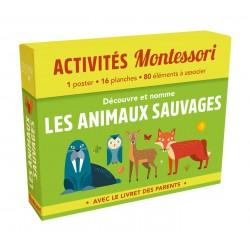 Découvre et nomme les animaux sauvages - Avec le livret des parents - Montessori
