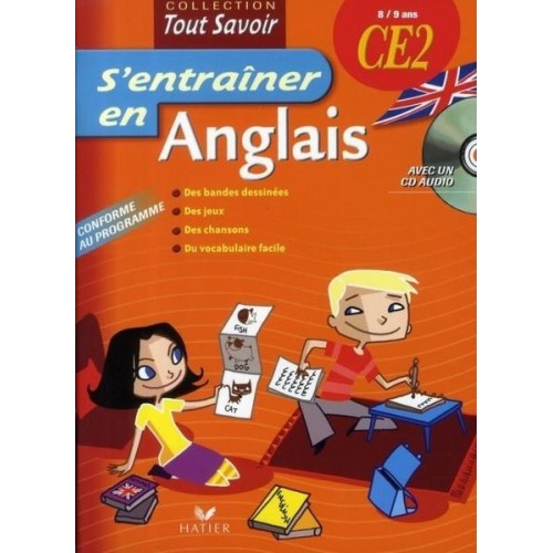 S'entraîner en Anglais CE2 avec 1 CD audio - 8/9 ans